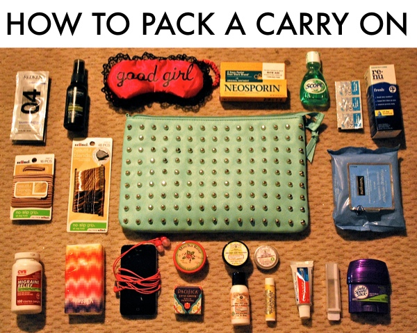 How to pack a carry on or carry on necessities for the How to pack a carry on suitcase video