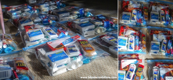 HOW TO MAKE CARE PACKAGES FOR THE HOMELESS {aka BLESSING BAGS
